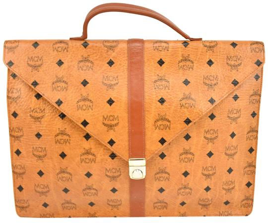 Preload https://img-static.tradesy.com/item/24049978/mcm-golden-brown-logo-and-leather-briefcaseexecutive-y-tote-0-1-540-540.jpg