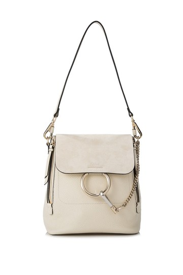 Preload https://item1.tradesy.com/images/chloe-faye-small-white-calfskin-leather-calfskin-suede-backpack-24049980-0-0.jpg?width=440&height=440