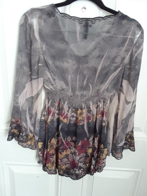 Sienna Rose Embroidered Floral Print Tunic