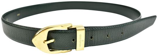 Preload https://img-static.tradesy.com/item/24049988/louis-vuitton-dark-emerald-green-and-logo-leather-fits-31-to-35-r-belt-0-1-540-540.jpg