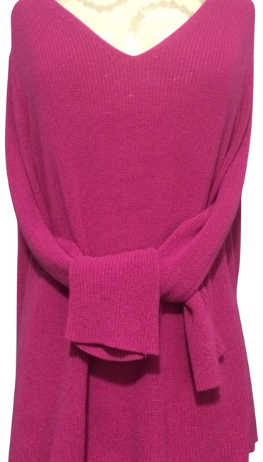 Preload https://img-static.tradesy.com/item/24050004/eileen-fisher-pink-v-neck-sweaterpullover-size-16-xl-plus-0x-0-1-650-650.jpg