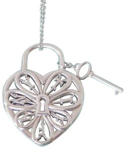 Tiffany & Co. Retired large Filigree heart necklace