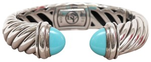 David Yurman DAVID YURMAN Cuff Sterling Silver 15mm WAVERLY Bracelet Turquoise