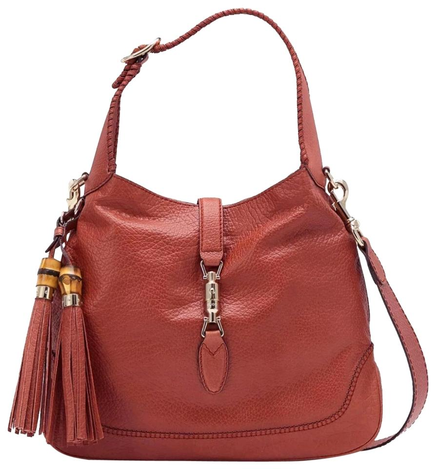 687982d147a Gucci Jackie Like New Tassel Hand Brown Leather Shoulder Bag - Tradesy