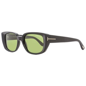 cd65383b22a Tom Ford Rectangular Style Unisex TF492 01N Green Lens Sunglasses