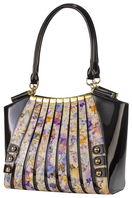 Item - Irina Version 2 Floral Print Black/Multi Leather Shoulder Bag