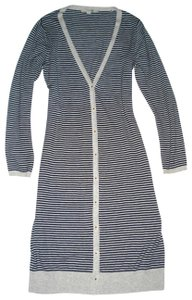Boden Striped Ool Sweater Coat Cardigan