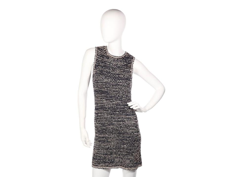 6af89cac541 Chanel short dress Blue Navy Tweed Knit Ch.ep0814.25 Cc on Tradesy Image ...