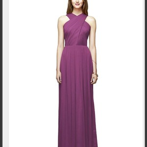 Lela Rose Radiant Orchid Crinkle Chiffon Lr212 Modest Bridesmaid/Mob Dress Size 12 (L)