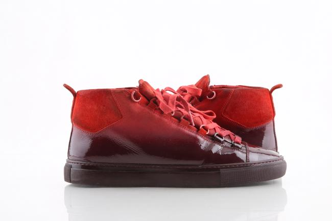 Balenciaga Red Ombre High Gradient Sneakers Athletic Size US 10 Regular (M, B) Balenciaga Red Ombre High Gradient Sneakers Athletic Size US 10 Regular (M, B) Image 1