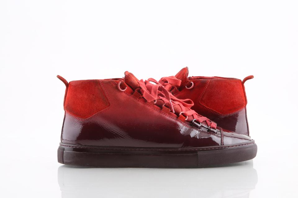 9abfac616d91 Balenciaga Red High Gradient Ombre Sneakers Athletic Size US 10 Regular (M