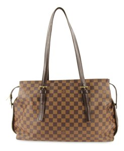 38dfc346eb4f Louis Vuitton Chelsea Damier Ebene Brown Coated Canvas Shoulder Bag ...