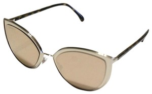 Chanel Chanel 4222 Cat Eye Sunglasses Gold Mirrored Brown Arms 54mm
