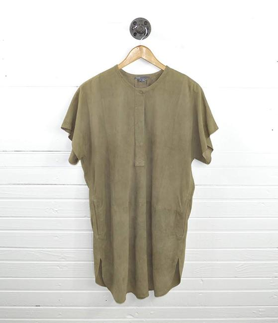 VINCE short dress TAN Leather Suede Fall Spring on Tradesy Image 1