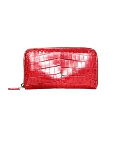 Bottega Veneta Crocodile Zip Around Wallet