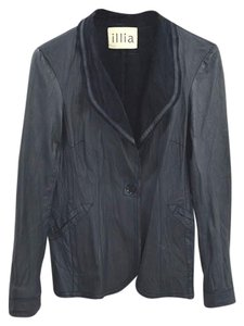 Illia Leather Longsleeve Suede Fall Winter BLUE Blazer