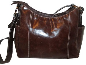 Giani Bernini Leather Convertable 3 Compartment 001 Cross Body Bag