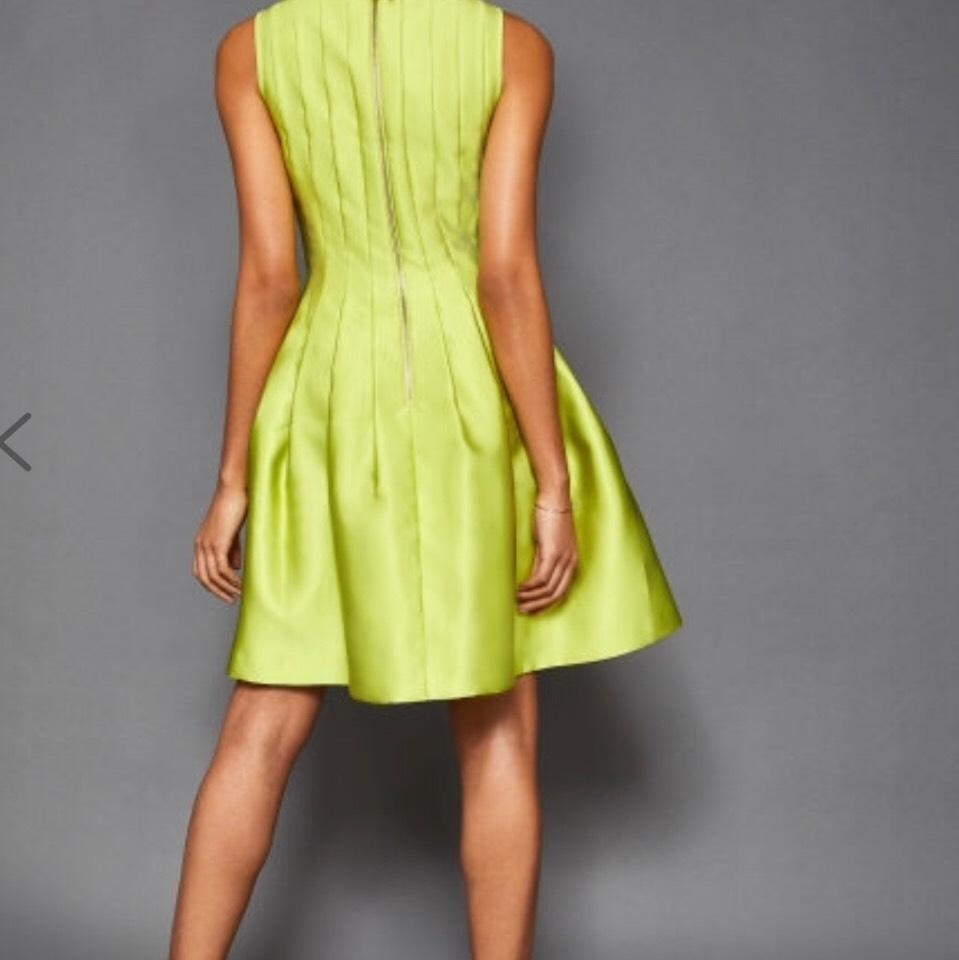 0c43ea2dfc853e Ted Baker Lime Green London Doora Bow Tie Short Formal Dress Size 8 (M) 79%  off retail