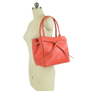 Coach Leather Small Tote in Watermelon