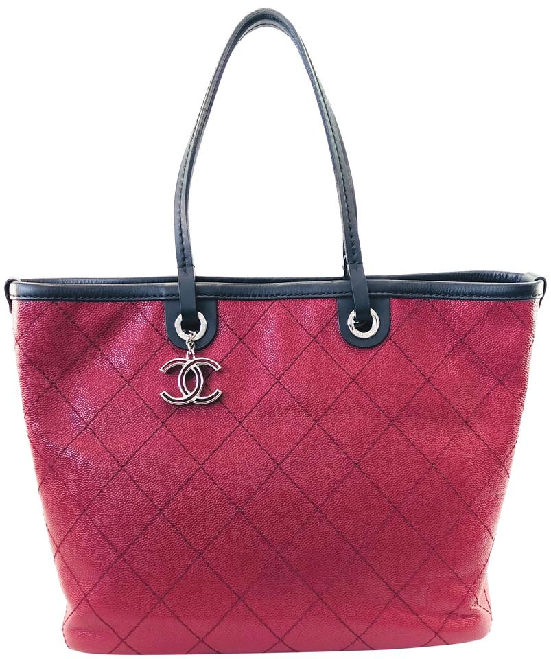 f1b4a30ad98f Chanel Fever Quilted Large Maroon Caviar Tote - Tradesy