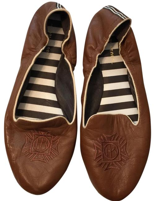 Item - English Tan Hb In Fine Soft Leather Flats Size US 9 Regular (M, B)