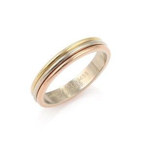 Cartier Trinity 18k Tri Color Gold Band Ring Size 60 w/Certificate