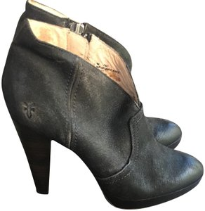 Frye Ankle Leather Charcoal Boots
