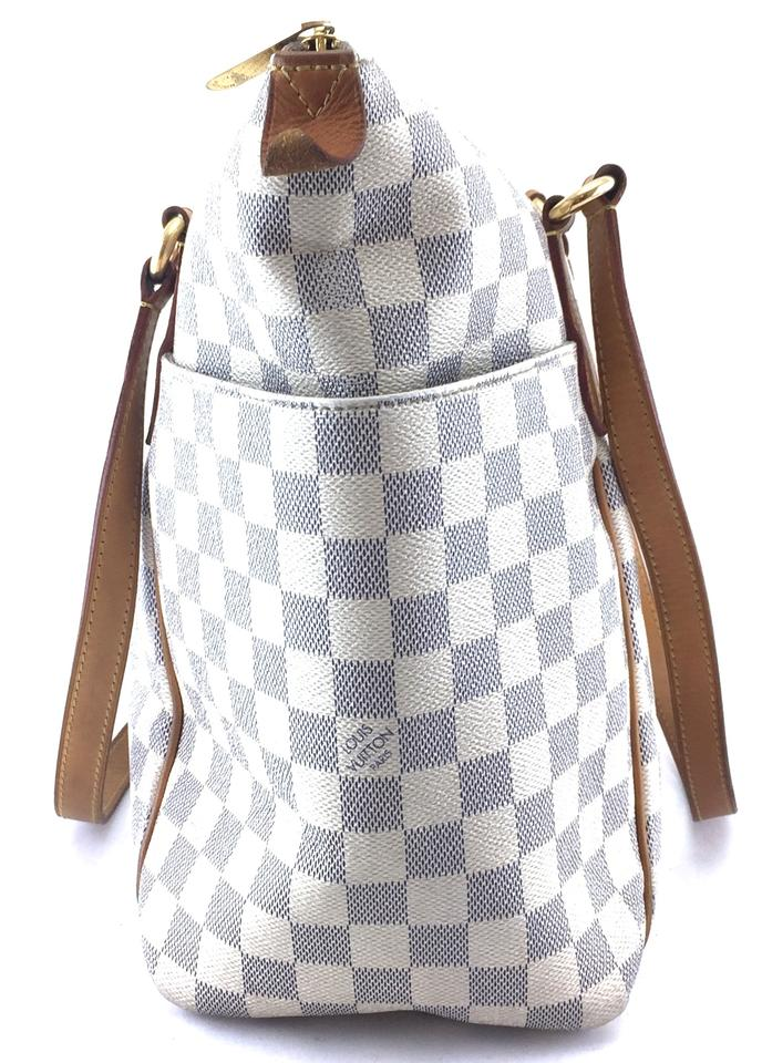 Louis Vuitton Totally  22410 Mm Zip Zipper Top Tote Work Everyday Damier  Azur Coated Canvas Shoulder Bag - Tradesy 1d61b493e6