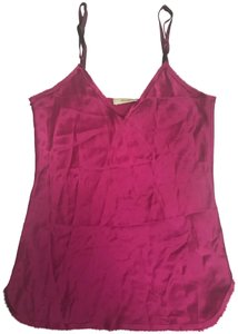Nili Lotan Silk V-neck Top Purple/Pink