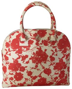 5660e84649d Tory Burch Robinson Printed Red Leather Satchel - Tradesy