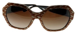 118be13387b2 Tory Burch TY7120-174813-57 Women Orange Pattern Frame Dark Brown Lens  Sunglasses