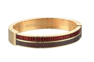 Michael Kors NIB MICHAEL KORS COLOR CRUSH GOLD TONE RED GARNET HINGE BRACELET $145