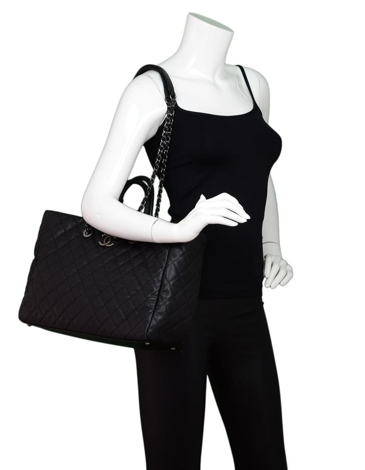 ce42cc690cdacb Chanel Coco Handle 2017 Quilted Caviar Lizard-trimmed Black Leather ...