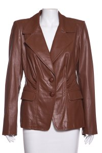Escada Brown Leather Jacket