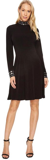 Item - Jersey Matte Black Grommets Mid-length Night Out Dress Size 2 (XS)