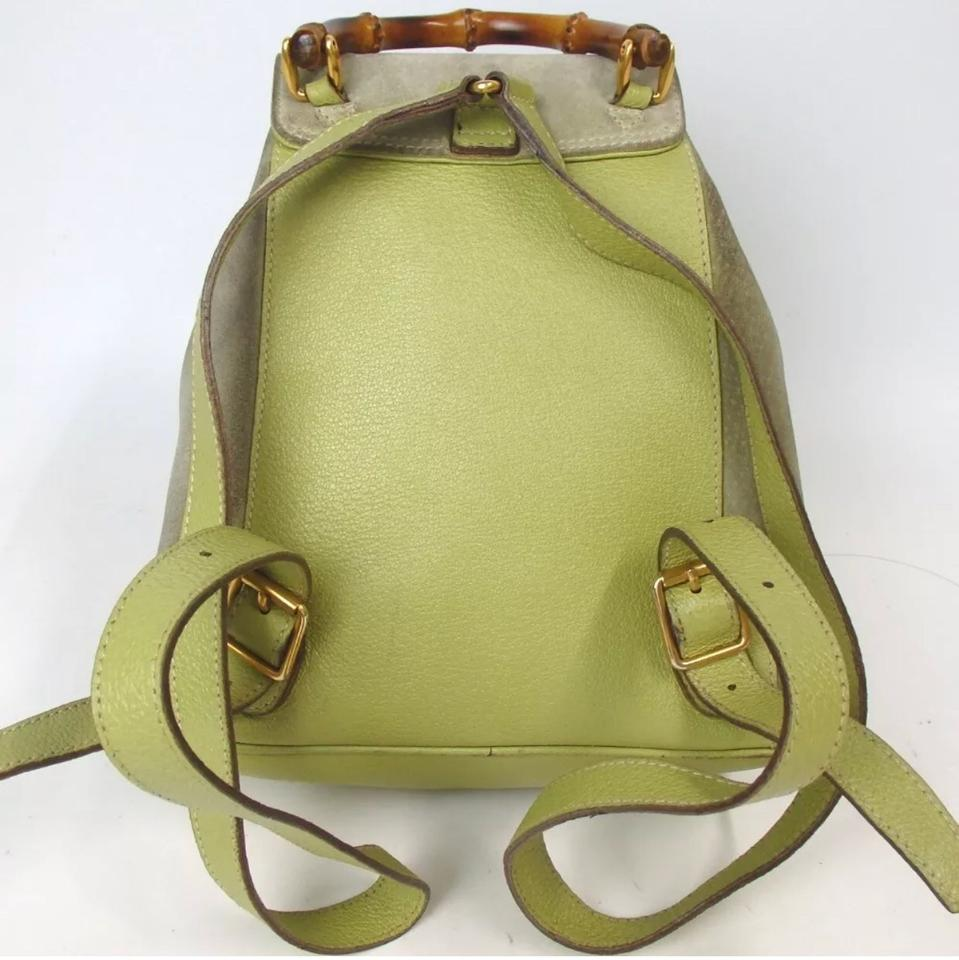 Gucci Bamboo Mini Light Green Suede Leather Backpack - Tradesy dcef95fed15b7