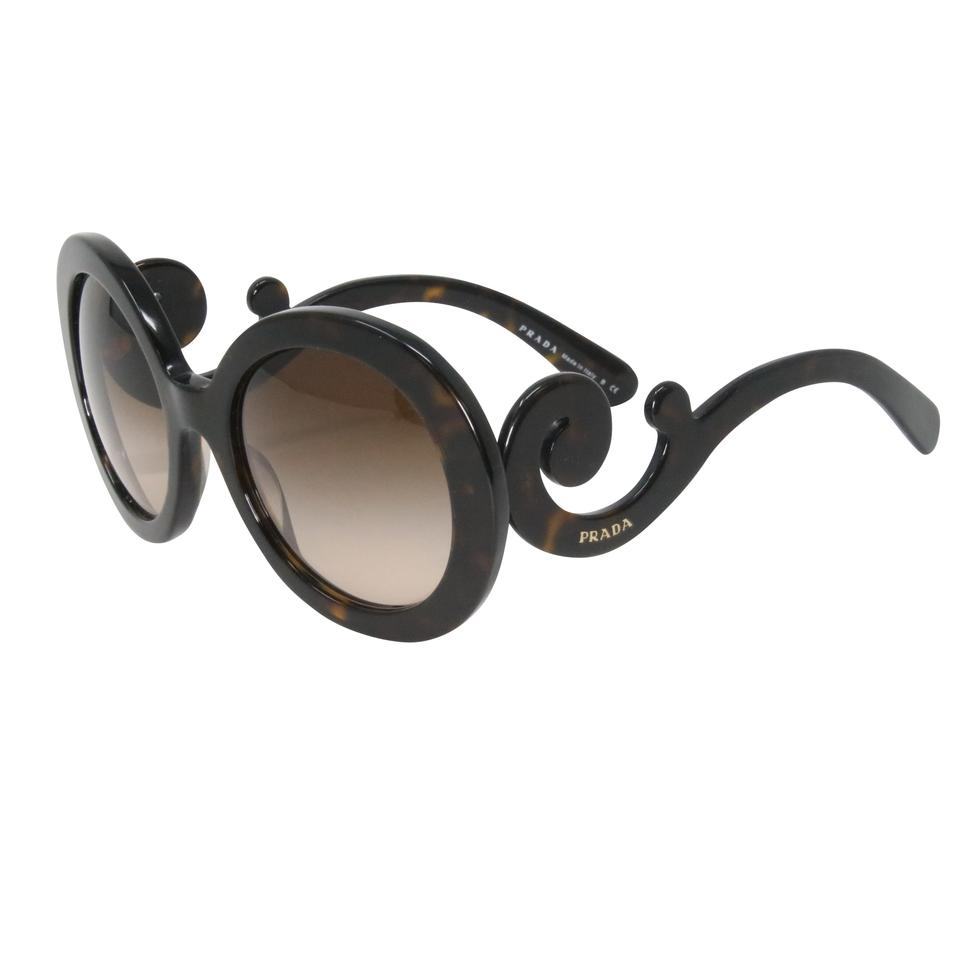 f528787282 Prada Brown Classic Havana Baroque Women s Round Spr 27n Sunglasses ...