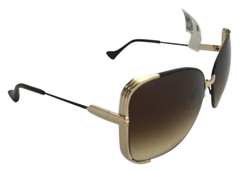 5b80a66cd695 Dita Brown Mariposa Rose Gold with Faux Leather Sunglasses - Tradesy