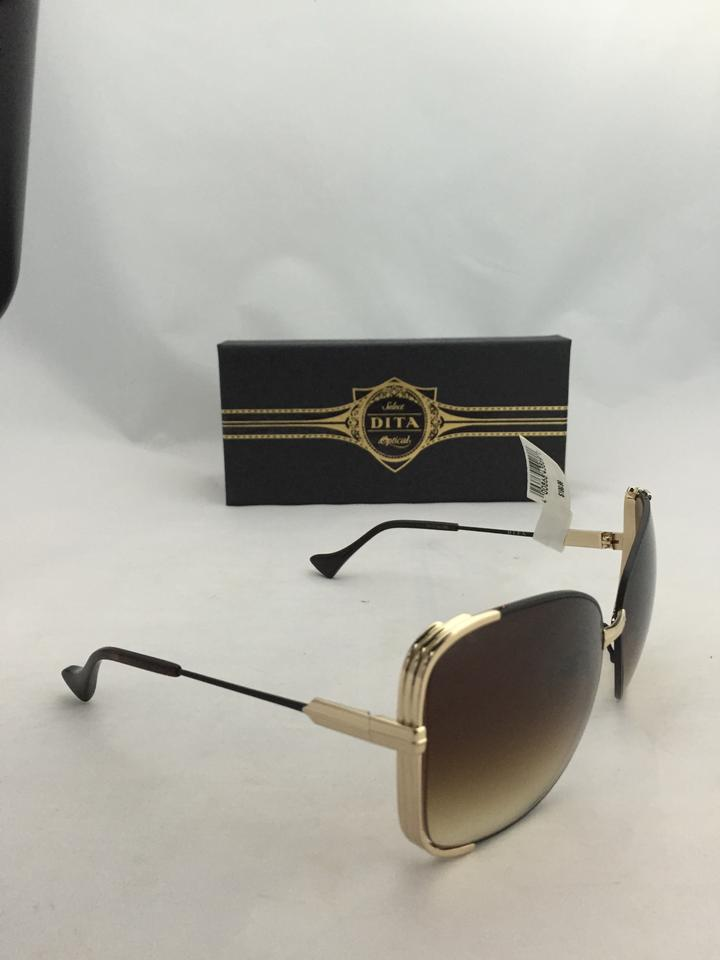 7ec8a7b1af37 Dita Dita Mariposa Sunglasses Rose Gold with Faux Brown Leather Image 11.  123456789101112