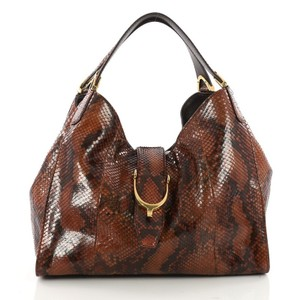 Gucci Python Tote in Brown