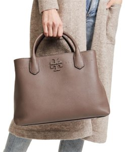 Tory Burch Satchel in silver maple, brown/grey/clay