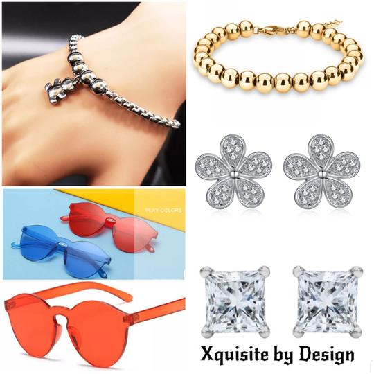 Xquisite by DESYGN BEADED TRIPLE BALL DANGLING NECKLACE SET