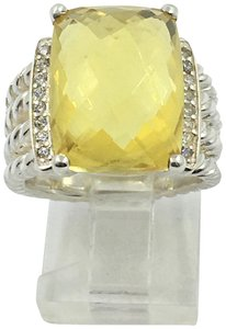 David Yurman DAVID YURMAN 10x8 CITRINE & DIAMOND PETITE WHEATON RING