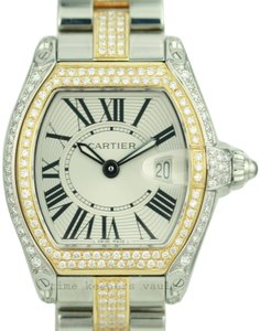Cartier Authentic Cartier Roadster two-tone Set with Custom Genuine Diamonds
