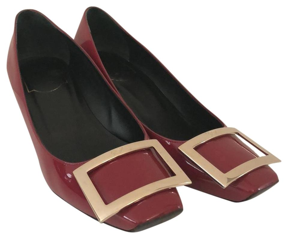 Roger Vivier In Red Belle Trompette In Vivier Patent Leather Pumps 9c198b