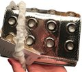 Michael Kors Collection Clutch Clutch/Crosby Metallic/Gray Ayers Snakeskin Leather/Suede Inside Cross Body Bag Michael Kors Collection Clutch Clutch/Crosby Metallic/Gray Ayers Snakeskin Leather/Suede Inside Cross Body Bag Image 2