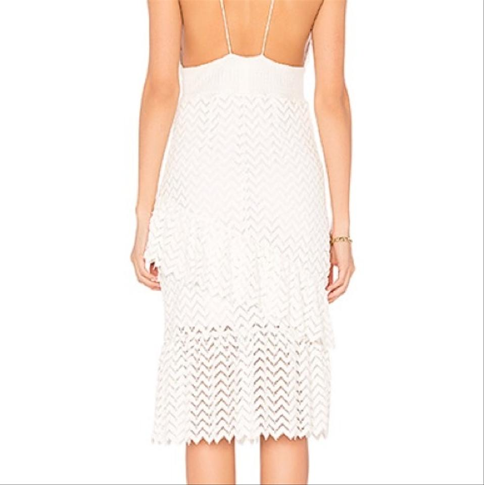 d7411b31ebd6 SAYLOR White Enida Lace Mid-length Cocktail Dress Size 8 (M) - Tradesy