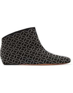 Christian Louboutin Ankle Alaia Laser Studded Black Boots