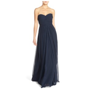 Jenny Yoo Navy Mira Chiffon Convertible Gown Feminine Bridesmaid/Mob Dress Size 8 (M)
