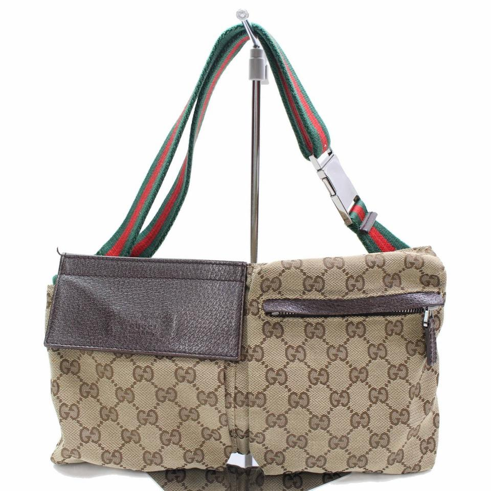 ff37ab82cecf Gucci Webby Gg Fanny Pack Rare Wristlet Waist Brown Monogram Weekend/Travel  Bag